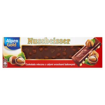 Czekolada - Alpen Gold Nussbeisser. Przyjemność rozpływająca sie w ustach.