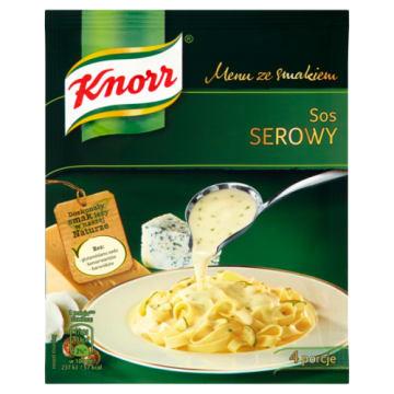 Knorr Menu ze smakiem - Sos serowy 34 g. Zawiera wysokiej jakości suszone składniki.