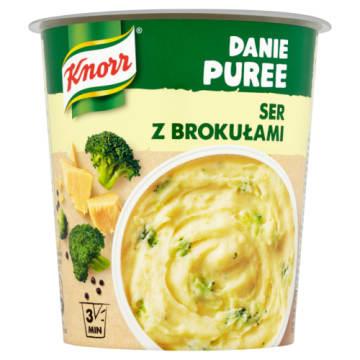 Knorr Gorący Kubek Puree Ziemniaczane z serem i brokułami to wygodny posiłek na nagły głód.