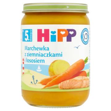 Hipp - Marchewka z ziemniakami i łososiem - po 5 msc-u. Pożywny posiłek dla najmodszych