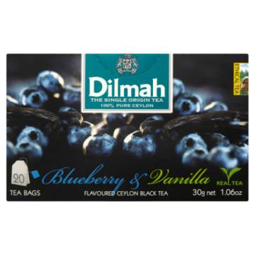 Herbata jagodowo-waniliowa Dilmah na bazie doskonałej czarnej herbaty z Cejlonu.