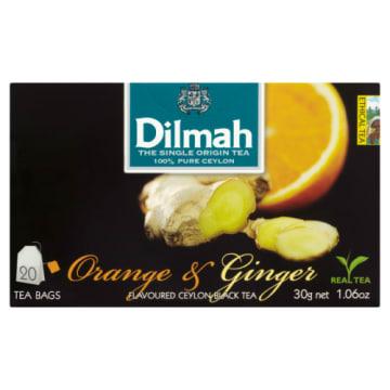 Herbata pomarańczowo-imbirowa - Dilmah. Wyjątkowy smak naparu na każdą porę roku.