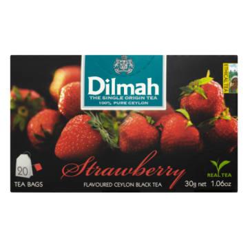 Herbata truskawkowa - Dilmah. Starannie produkowana czarna herbata z aromatem truskawki.