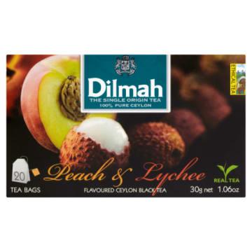 Dilmah - Herbata brzoskwiniowa z liczi to doskonałe połączenie czarnej herbaty i owoców.