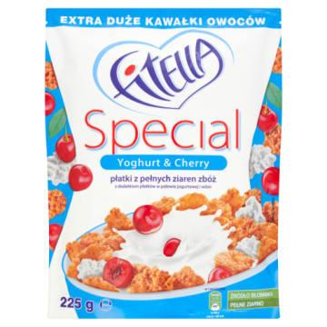 Płatki w polewie jogurtowej - Fitella. Połączenie chrupiących płatków i jogurtu.