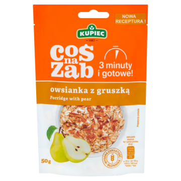 Kupiec - Owsianka z gruszkami 50g. Zdrowy i szybki posiłek.
