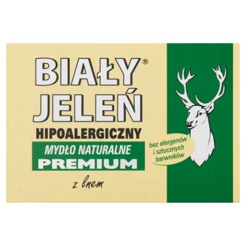 Hipoalergiczne mydło naturalne- Biały Jeleń. Skutecznie zapobiega utracie wody z naskórka.