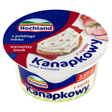 Ser twarogowy z szynką do kanapek 150 g - Hochland - doskonały do kanapek