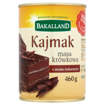 Bakalland - Masa krówkowa kakao 460g. Uwielbiana przez miłośników słodkości.