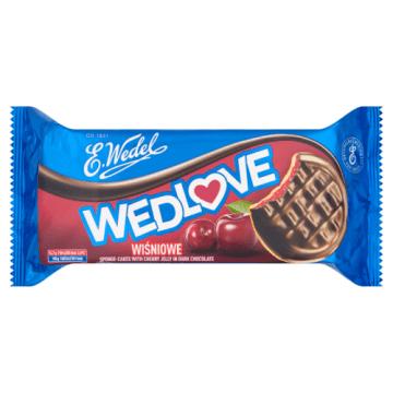 Wedel - Biszkopty z galaretką wiśniową w czekoladzie to wspaniałe połączenie smaków.