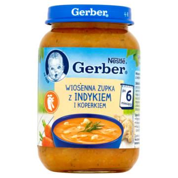 Gerber - Wiosenna zupka dla dzieci po 6 miesiącu. Idealna przy rozszerzaniu diety o stałe produkty.