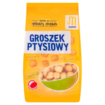 Groszek ptysiowy, 80g – Mamut. Delikatne i kruche ciasto parzone do zup i deserów