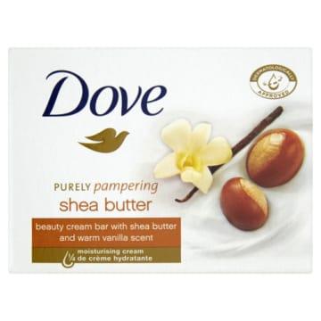 Mydło kremowe z masłem shea - Dove. Świetnie sprawdzi się podczas codziennej pielęgnacji skóry.
