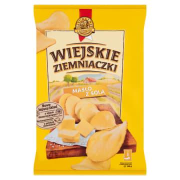 Chipsy ziemniaczane (masło, sól) - Wiejskie Ziemniaczki. Nawiązują do tradycyjnych, wiejskich smaków