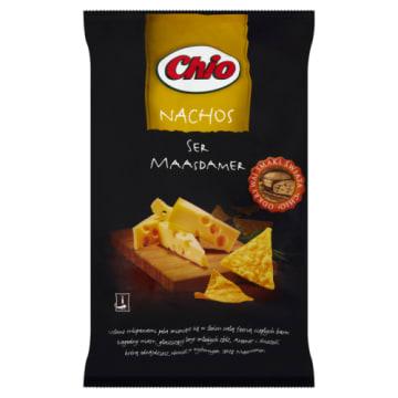 Chpisy nachos o smaku sera maasdamer-Chio o słodkim smaku i złocistej barwie.
