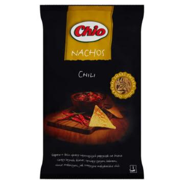 Chipsy nachos o smaku chili-Chio. Wyjątkowe połączenie kruchości i wyrazistego smaku.