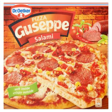 Pizza z salami mrożona - Dr. Oetker. Pomysł na błyskawiczny posiłek z wyśmienitym salami w roli głownej.