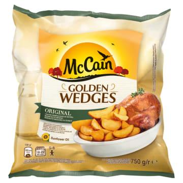 McCain - Ćwiartki ziemniaka ze skórką 750g posiadają chrupiącą skórkę i pikantny smak.