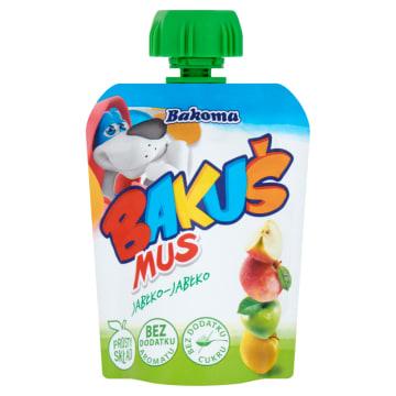 Bakoma Bakuś do kieszonki - Mus owocowy jabłko. Przekąska bogata w witaminy i mienerały.