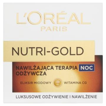 Loreal – Nutri Gold Krem odżywczy na noc doskonale nawilża i pielęgnuje skórę twarzy.