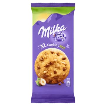 Milka - Ciastka z czekoladą i orzechami XL. Wyborne ciasteczka dla największych łasuchów.