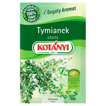 Tymianek otarty 11g - Kotanyi to fantastyczna przyprawa.