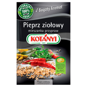 Pieprz ziołowy Kotanyi to wyjątkowo aromatyczna i uniwersalna mieszanka przypraw do każdej kuchni.