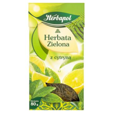 Herbapol – Zielona liściasta herbata z cytryną wpływa na odpowiednie funkcjonowanie organizmu.