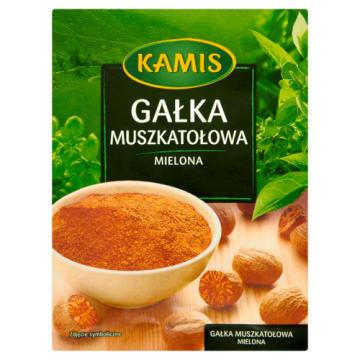Kamis-mielona gałka muszkatołowa o korzennym aromacie i gorzkim smaku.