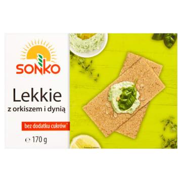 Sonko – lekkie pieczywo z orkiszem i dynią to pyszny produkt bogaty w białko i witaminy.