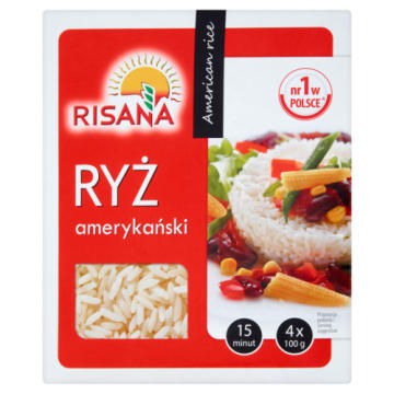 Ryż amerykański 4x100g - Risana - smaczny biały ryż