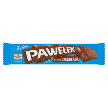 Wedel – Baton czekoladowy Pawełek zawiera słodkie, czekoladowe nadzienie w polewie z czekolady.
