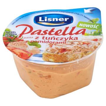 Pastella kanapkowa z tuńczykiem i pomidorami 80g - Lisner