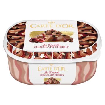 Lody czekoladowo-wiśniowe- Algida Carte d'Or. Z likierem wiśniowym i czekoladowymi gwiazdkami.