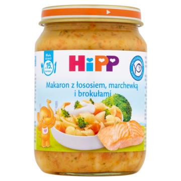 Makaron z łososiem i warzywami - Hipp. Gotowy obiadek dla dzieci po 15.miesiącu.
