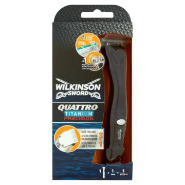 WILKINSON Quattro Titanium Precision Maszynka do golenia + 1 wkład 1szt
