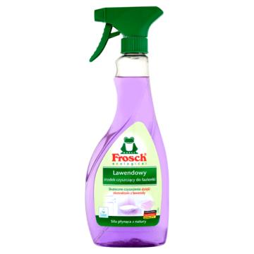Spray do czyszczenia łazienek – Frosch to doskonały środek do czyszczenia o zapachu lawendy.