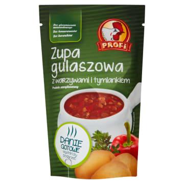 Profi - Zupa gulaszowa z warzywami 450 ml . Wyborna zupa gulaszowa z dodatkiem warzyw i tymianku.