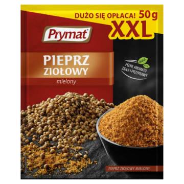Prymat - Mielony pieprz ziołowy. Nadaje wyrazisty smak potrawom.