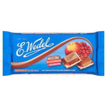 Wedel - Czekolada mleczna z brzoskwinią i żurawiną. Słodka przekąska w ciągu dnia.