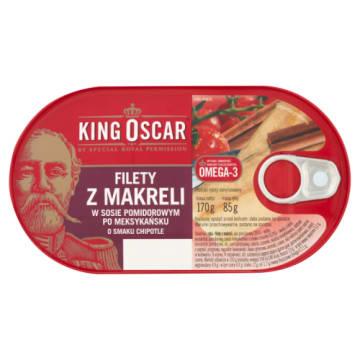 Fiet z makrelu - King Oscar w meksykańskim sosie z chipotle to dodatek do kanapki i sałatki.