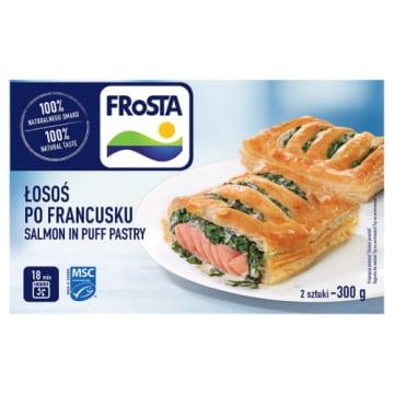 Łosoś po francusku mrożony - Frosta. Pyszne danie, które można przygotować w bardzo szybki sposób.