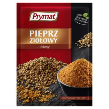 Prymat - Pieprz ziołowy mielony. Uniwersalna mieszanka przypraw nadająca ziołowego smaku potrawom.