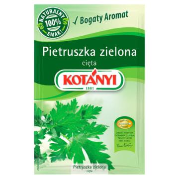 KOTANYI Pietruszka zielona cięta 8g - znakomite zioło o lekko pieprznym smaku i korzennym zapachu.
