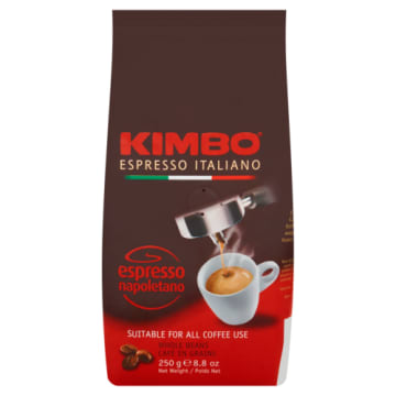 Kawa Espresso Napoletano ziarnista - Kimbo pochodzi od znanego włoskiego producenta.