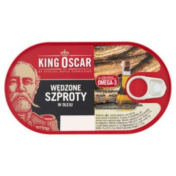 Wędzone szproty w oleju KING OSCAR - delikatny, głęboki smak