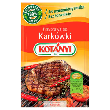 Przyprawa do karkówki, 30 g – Kotanyi. Kompozycja papryki, kolendy i pieprzu.