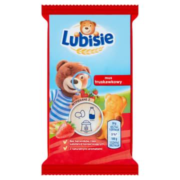 Ciastko biszkoptowe z musem truskawkowym - Lu Petitki Lubisie. Pyszna przekąską dla Twojego dziecka.