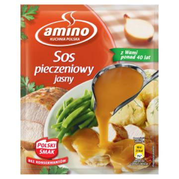 Sos pieczeniowy jasny - Amino uświetni wiele potraw, których podstawą jest mięso. Bez konserwantów.