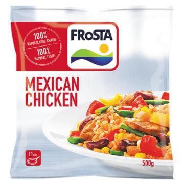 Frosta Mexican Chicen – kurczak po meksykańsku. Mieszanka kurczaka, ryżu i warzyw.